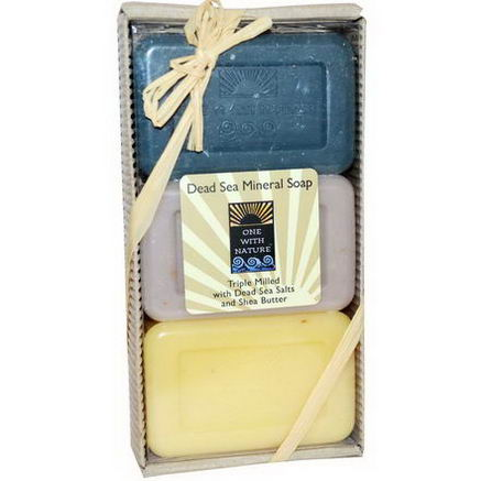 One with Nature, Dead Sea Soap Gift Pack, 3 Bar Soaps, 4oz Each