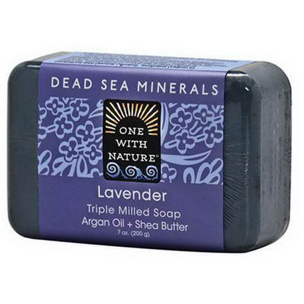 One with Nature, Triple Milled Soap, Lavender Soap Bar, 7oz (200g)