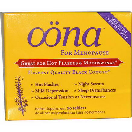 Oona, For Menopause, 96 Tablets