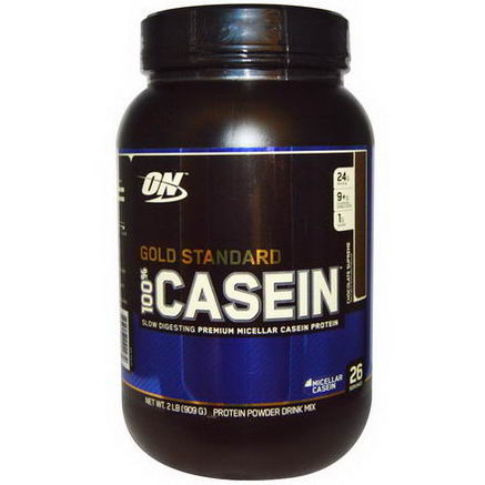 Optimum Nutrition, 100% Casein, Gold Standard, Chocolate Supreme, 2 lbs (909g)