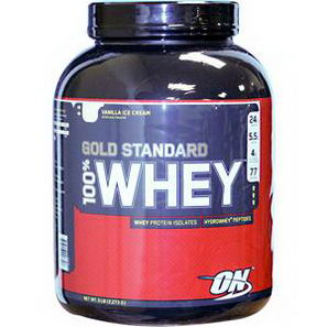 Optimum Nutrition, 100% Whey Gold Standard, Vanilla Ice Cream, 5 lb (2, 273g)