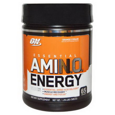 Optimum Nutrition, Essential AmiN. O. Energy, Orange Cooler, 1.29 Lbs (585g)