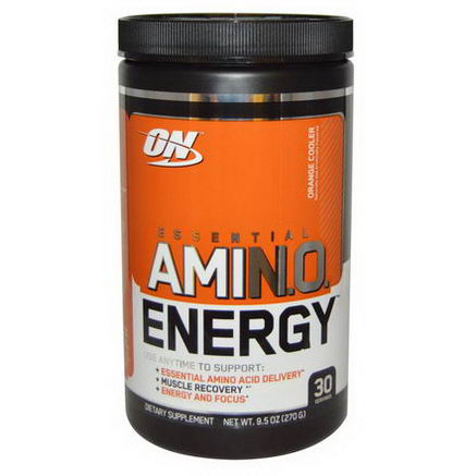 Optimum Nutrition, Essential AmiN. O. Energy, Orange Cooler, 9.5oz (270g)