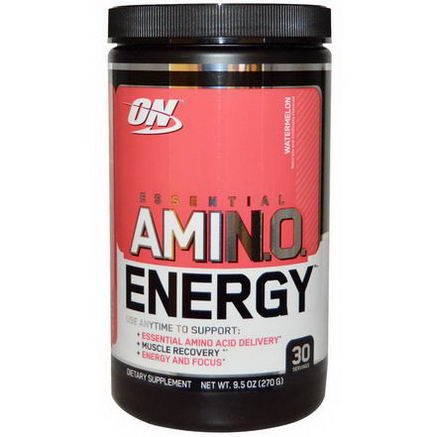 Optimum Nutrition, Essential Amino Energy, Watermelon, 9.5oz (270g)