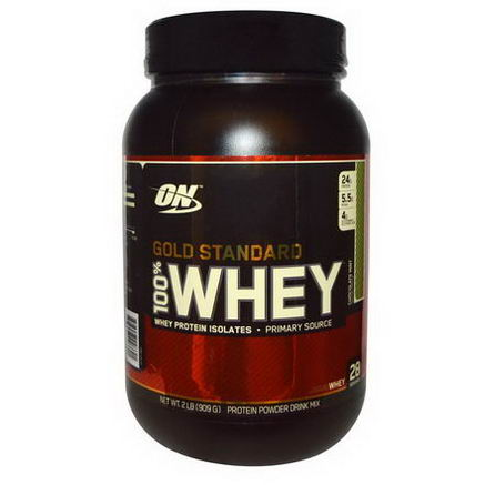 Optimum Nutrition, Gold Standard 100% Whey, Chocolate Mint, 2 lbs (909g)