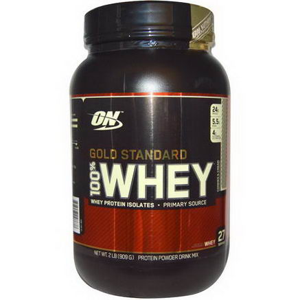 Optimum Nutrition, Gold Standard 100% Whey, Cookies and Cream, 2 lb (909g)