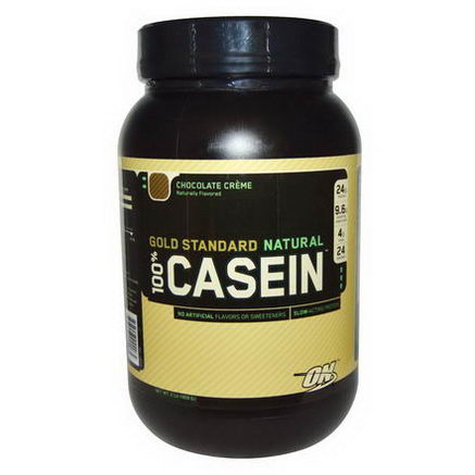 Optimum Nutrition, Gold Standard Natural, 100% Casein, Chocolate Creme, 2 lbs (909g)