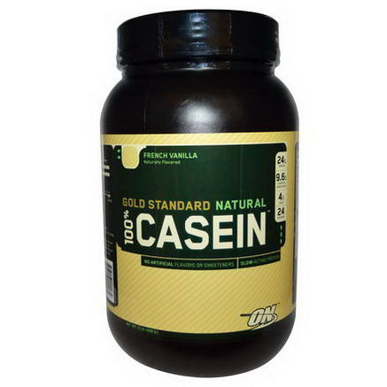 Optimum Nutrition, Gold Standard Natural 100% Casein, French Vanilla, 2 lb (909g)