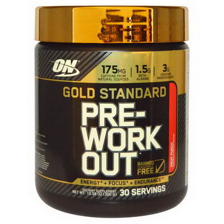 Optimum Nutrition, Gold Standard, Pre-Workout, Fruit Punch, 10.58oz (300g)