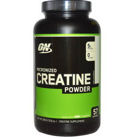 Optimum Nutrition, Micronized Creatine Powder, Unflavored, 10.6oz (300g)
