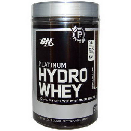 Optimum Nutrition, Platinum HydroWhey, Turbo Chocolate, 1.75 lbs (795g)