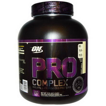 Optimum Nutrition, Pro Complex, Isolate & Hydrolyzed Proteins, Creamy Vanilla, 3.31 lbs (1.5 kg)