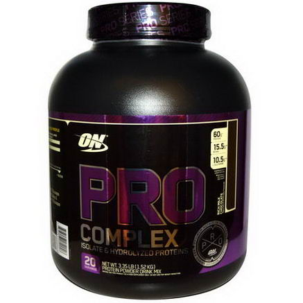 Optimum Nutrition, Pro Complex, Isolate & Hydrolyzed Proteins, Rich Milk Chocolate, 3.35 lbs (1.52 kg)