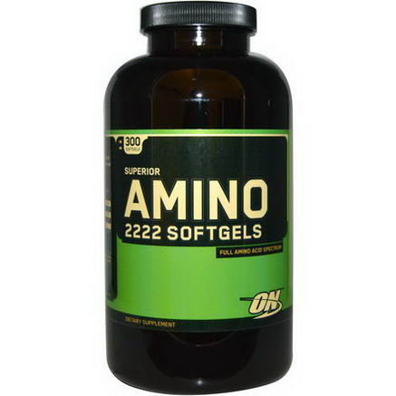 Optimum Nutrition, Superior Amino 2222 Softgels, 300 Softgels