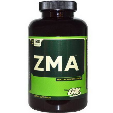 Optimum Nutrition, ZMA, Nighttime Recovery Support, 180 Capsules