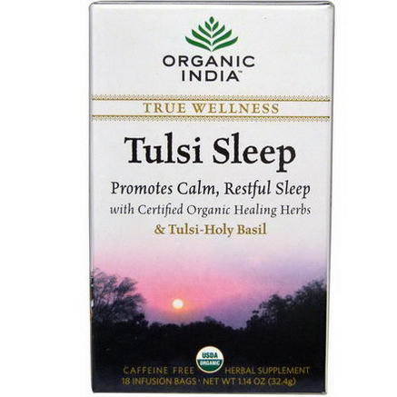 Organic India, Tulsi Sleep Tea, Caffeine Free, 18 Infusion Bags, 1.14oz (32.4g)