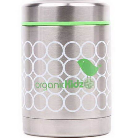 Organic Kidz, Stainless Steel Thermal Food Container, Birdy, 12oz (350 ml)