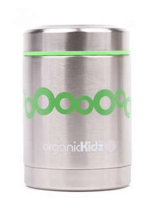 Organic Kidz, Stainless Steel Thermal Food Container, Cheery, 12oz (350 ml)