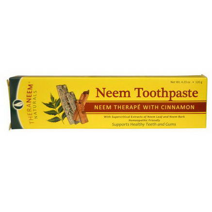 Organix South, TheraNeem Naturals, Neem Toothpaste, Neem Therape with Cinnamon, 4.23oz (120g)