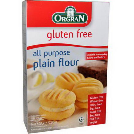 Orgran, All Purpose Plain Flour, Gluten Free, 17.50oz (500g)