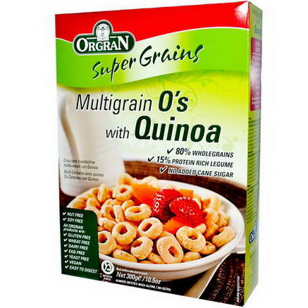 Orgran, MultiGrain O's with Quinoa, 10.5oz (300g)