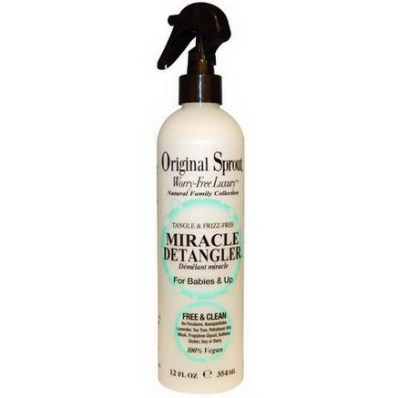 Original Sprouts Inc, Miracle Detangler, For Babies & Up, 12 fl oz (354 ml)