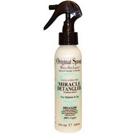 Original Sprouts Inc, Miracle Detangler, For Babies & Up, 4 fl oz (118 ml)