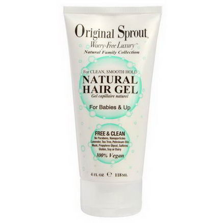 Original Sprouts Inc, Natural Hair Gel, For Babies & Up, 4 fl oz (118 ml)