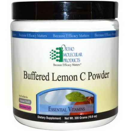 Ortho Molecular Products, Buffered Lemon C Powder, 10.6oz (300g)