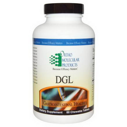 Ortho Molecular Products, DGL, 60 Chewable Tablets