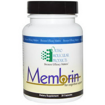 Ortho Molecular Products, Membrin, For Cognitive Support, 30 Capsules