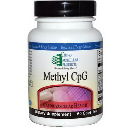 Ortho Molecular Products, Methyl CpG, 60 Capsules