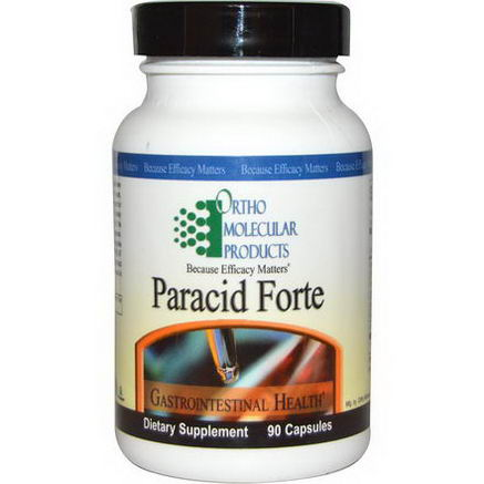 Ortho Molecular Products, Paracid Forte, 90 Capsules