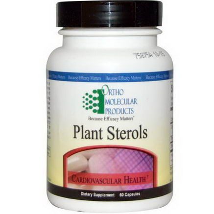Ortho Molecular Products, Plant Sterols, Cardiovascular Health, 60 Capsules