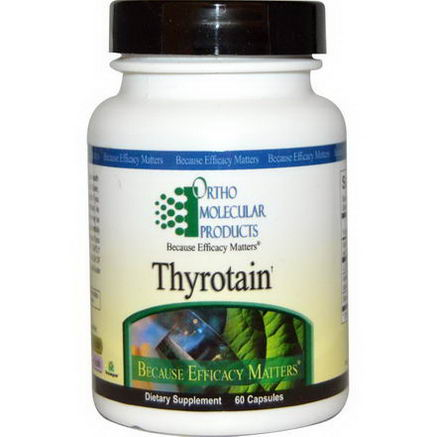 Ortho Molecular Products, Thyrotain, 60 Capsules