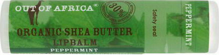 Out of Africa, Lip Balm, Pure Shea Butter, Peppermint, 0.25oz (7g)