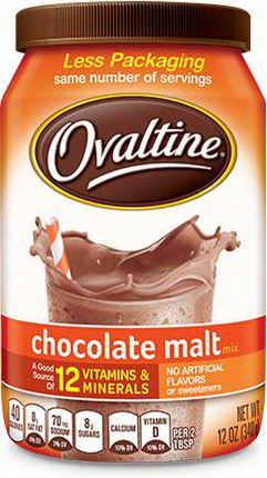 Ovaltine, Chocolate Malt Mix, 12oz (340g)