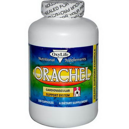 OxyLife, Orachel, Cardiovascular Support System, 180 Capsules