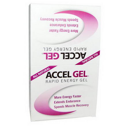 Pacific Health Inc. Accel Gel, Rapid Energy Gel, Chocolate, 24 Pack, 1.3oz (37g) Each