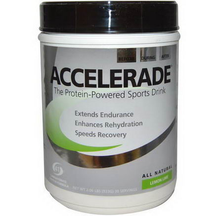 Pacific Health Inc. Accelerade, Sports Drink, Lemon Lime, 2.06 lbs (933g)