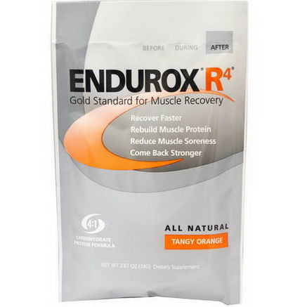 Pacific Health Inc. Endurox R4, Muscle Recovery Drink, Tangy Orange, 2.61oz (74g)