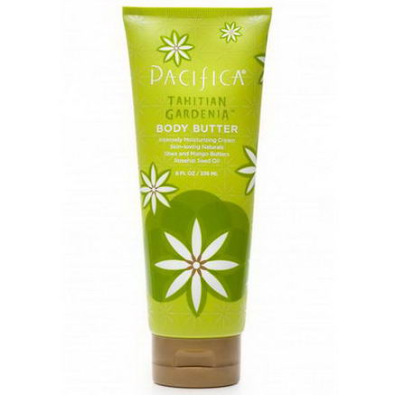 Pacifica Perfumes Inc, Body Butter, Tahitian Gardenia, 8 fl oz (236 ml)
