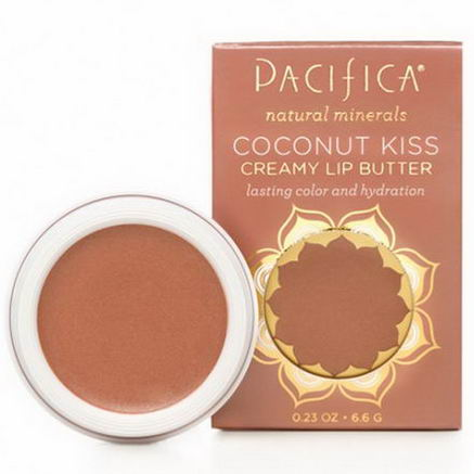 Pacifica Perfumes Inc, Coconut Kiss, Creamy Lip Butter, Stardust, 0.23oz (6.6g)