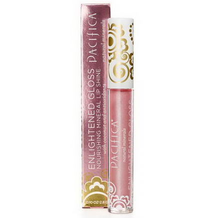 Pacifica Perfumes Inc, Enlightened Gloss, Nourishing Mineral Lip Shine, Beach Kiss, 0.10oz (2.8g)