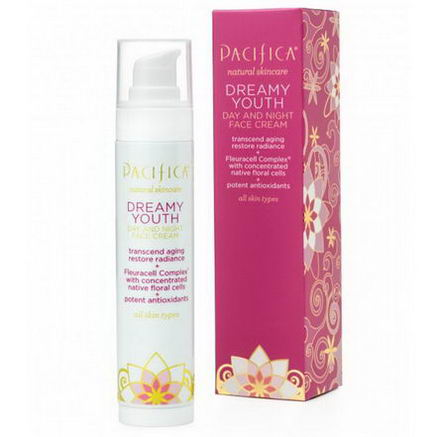 Pacifica Perfumes Inc, Natural Skincare, Dreamy Youth, Day and Night Face Cream, All Skin Types, 1.7 fl oz (50 ml)