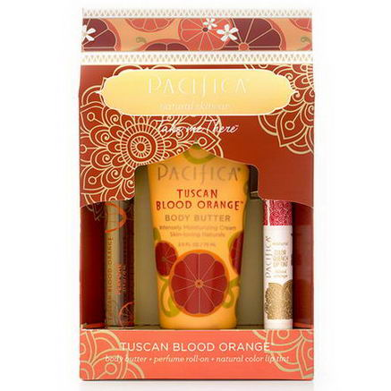 Pacifica Perfumes Inc, Take Me There Set, Tuscan Blood Orange, 3 Piece Kit