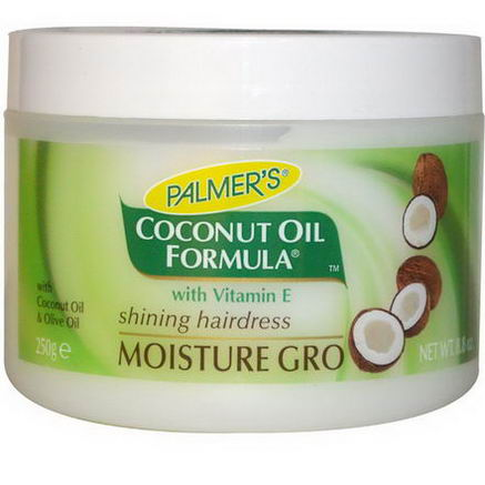 Palmer's, Coconut Oil Formula with Vitamin E, Shining Hairdress, Moisture Gro, 8.8oz (250g)