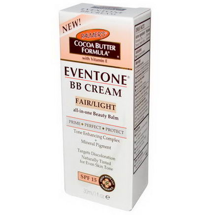 Palmer's, Eventone, BB Cream, Cocoa Butter Formula, Fair/Light, SPF 15, 1 fl oz (30 ml)
