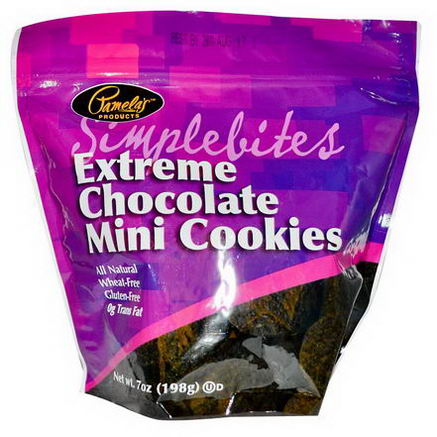Pamela's Products, Simplebites, Extreme Chocolate Mini Cookies, 7oz (198g)