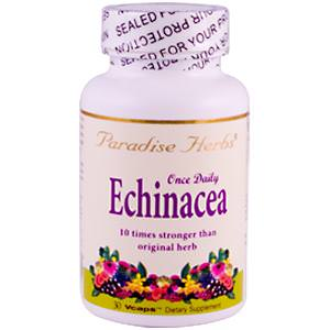 Paradise Herbs, Once Daily Echinacea, 30 Vcaps